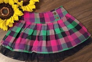 🍁colorful checker flannel skirt 👧